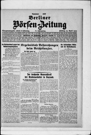 Berliner Börsen-Zeitung vom 23.04.1926