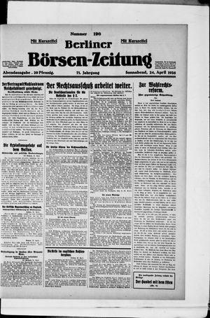 Berliner Börsen-Zeitung on Apr 24, 1926
