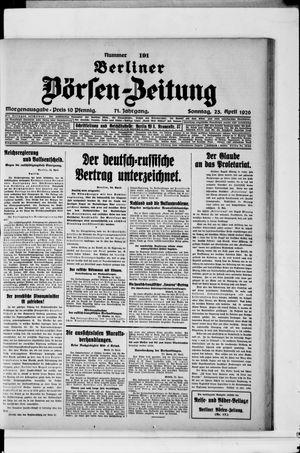 Berliner Börsen-Zeitung vom 25.04.1926