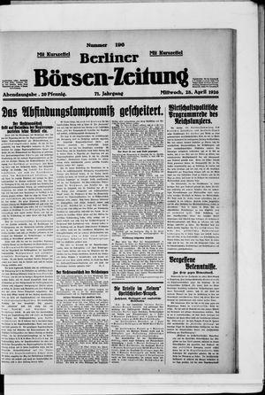 Berliner Börsen-Zeitung vom 28.04.1926