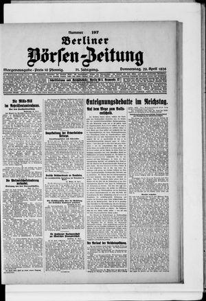 Berliner Börsen-Zeitung vom 29.04.1926