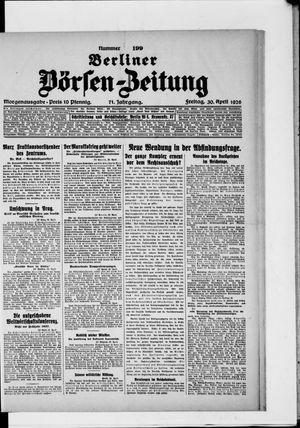 Berliner Börsen-Zeitung vom 30.04.1926