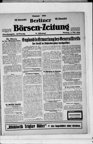 Berliner Börsen-Zeitung vom 03.05.1926