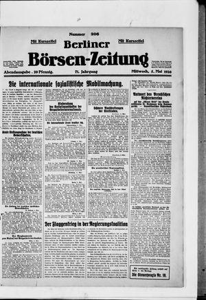 Berliner Börsen-Zeitung vom 05.05.1926