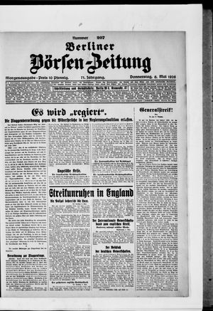 Berliner Börsen-Zeitung vom 06.05.1926
