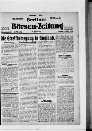 Berliner Börsen-Zeitung vom 07.05.1926