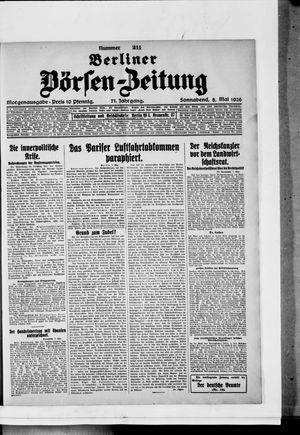Berliner Börsen-Zeitung vom 08.05.1926