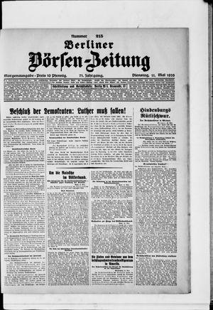 Berliner Börsen-Zeitung vom 11.05.1926