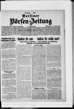 Berliner Börsen-Zeitung vom 12.05.1926