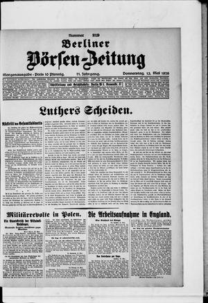 Berliner Börsen-Zeitung vom 13.05.1926