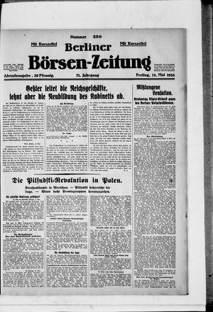 Berliner Börsen-Zeitung vom 14.05.1926