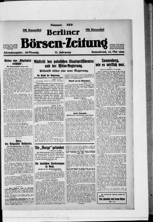 Berliner Börsen-Zeitung vom 15.05.1926