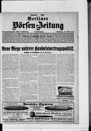 Berliner Börsen-Zeitung vom 16.05.1926