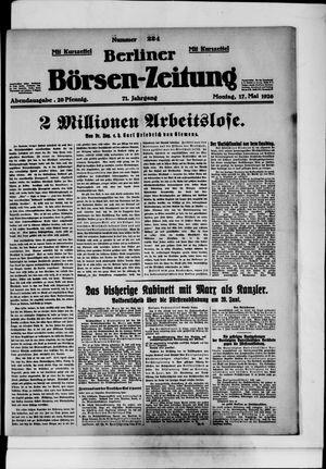 Berliner Börsen-Zeitung vom 17.05.1926