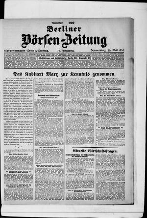 Berliner Börsen-Zeitung vom 20.05.1926