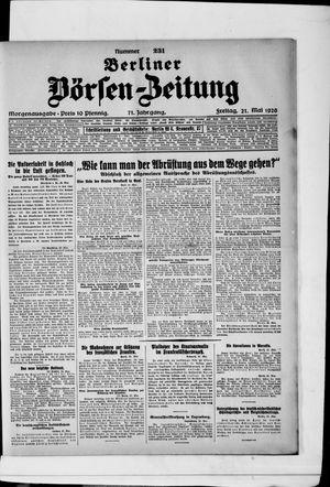 Berliner Börsen-Zeitung vom 21.05.1926