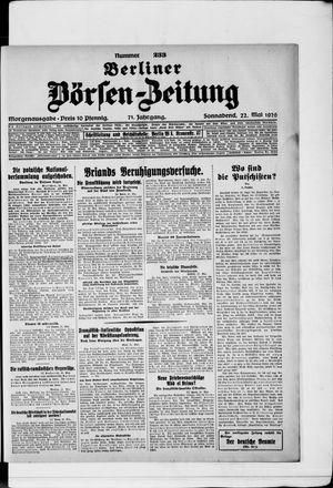 Berliner Börsen-Zeitung vom 22.05.1926