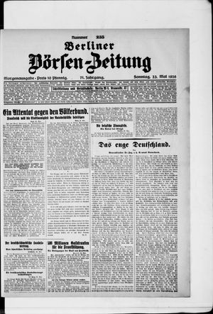 Berliner Börsen-Zeitung vom 23.05.1926