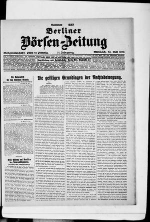Berliner Börsen-Zeitung vom 26.05.1926