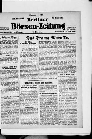 Berliner Börsen-Zeitung vom 27.05.1926