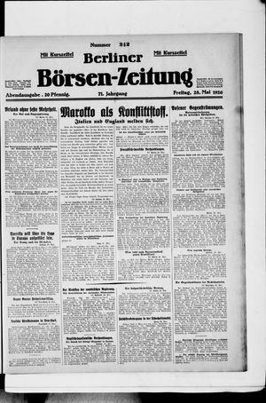 Berliner Börsen-Zeitung vom 28.05.1926