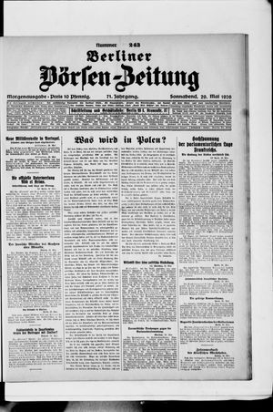 Berliner Börsen-Zeitung vom 29.05.1926