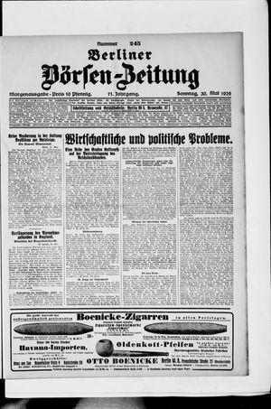 Berliner Börsen-Zeitung vom 30.05.1926