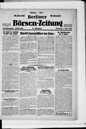 Berliner Börsen-Zeitung vom 01.06.1926
