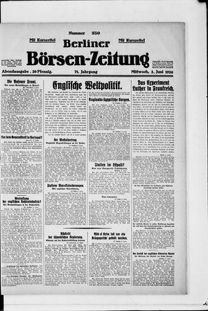 Berliner Börsen-Zeitung vom 02.06.1926