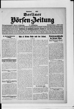 Berliner Börsen-Zeitung vom 03.06.1926
