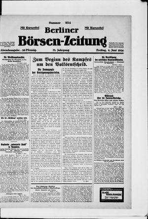Berliner Börsen-Zeitung vom 04.06.1926