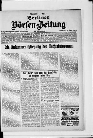 Berliner Börsen-Zeitung vom 06.06.1926