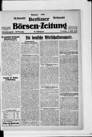 Berliner Börsen-Zeitung vom 07.06.1926