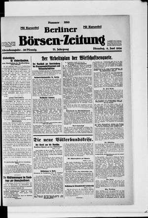 Berliner Börsen-Zeitung vom 08.06.1926