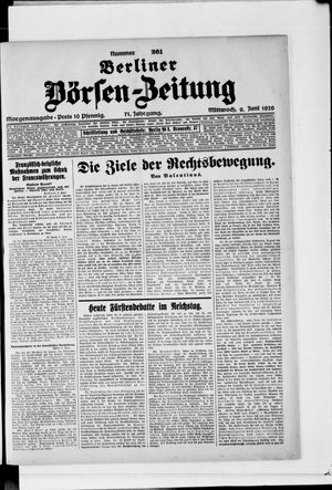Berliner Börsen-Zeitung vom 09.06.1926