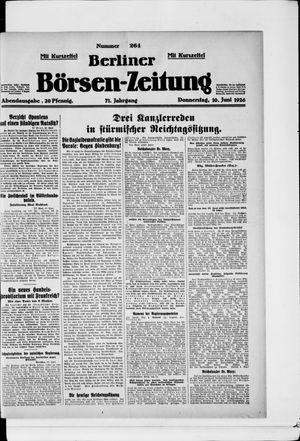 Berliner Börsen-Zeitung vom 10.06.1926