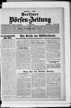 Berliner Börsen-Zeitung vom 11.06.1926