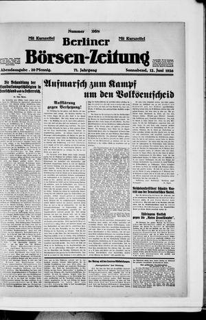 Berliner Börsen-Zeitung vom 12.06.1926