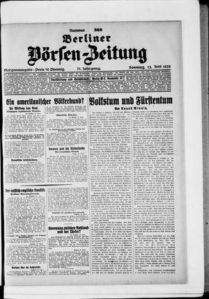 Berliner Börsen-Zeitung vom 13.06.1926