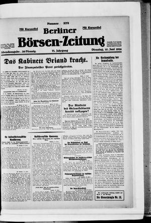 Berliner Börsen-Zeitung vom 15.06.1926