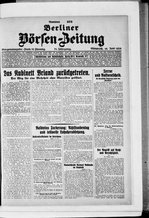 Berliner Börsen-Zeitung vom 16.06.1926