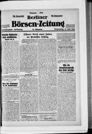 Berliner Börsen-Zeitung vom 17.06.1926