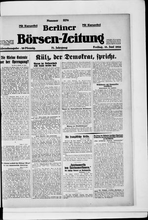 Berliner Börsen-Zeitung vom 18.06.1926