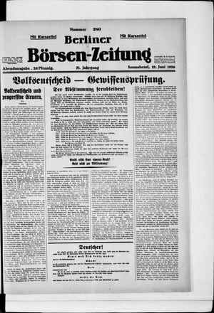 Berliner Börsen-Zeitung vom 19.06.1926