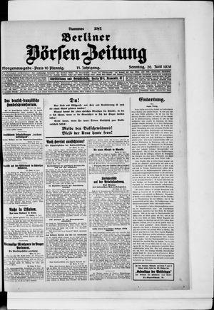 Berliner Börsen-Zeitung vom 20.06.1926