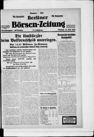 Berliner Börsen-Zeitung vom 21.06.1926
