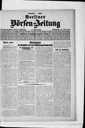 Berliner Börsen-Zeitung vom 22.06.1926