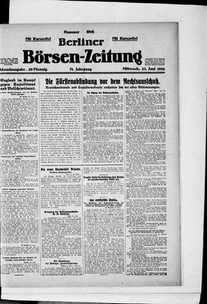 Berliner Börsen-Zeitung vom 23.06.1926