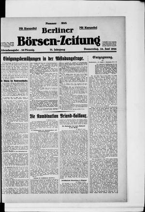 Berliner Börsen-Zeitung vom 24.06.1926