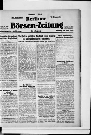 Berliner Börsen-Zeitung vom 25.06.1926